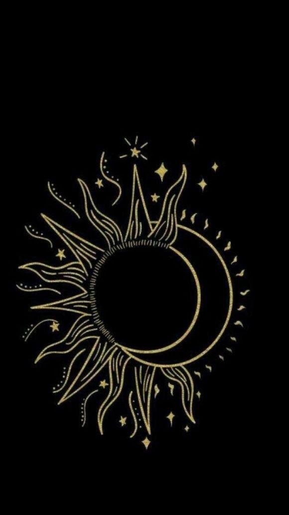 Celestial Iphone Wallpaper Sun Moon Stars Sun Drawing Art Drawings