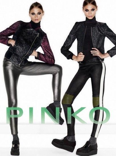 Collezione Pinko autunno inverno 20132014, giacche e pantaloni in ecopelle.