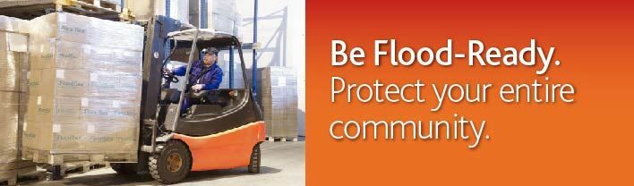 Be flood ready - Flood protection - Flood defense product www.FloodSax.US.com