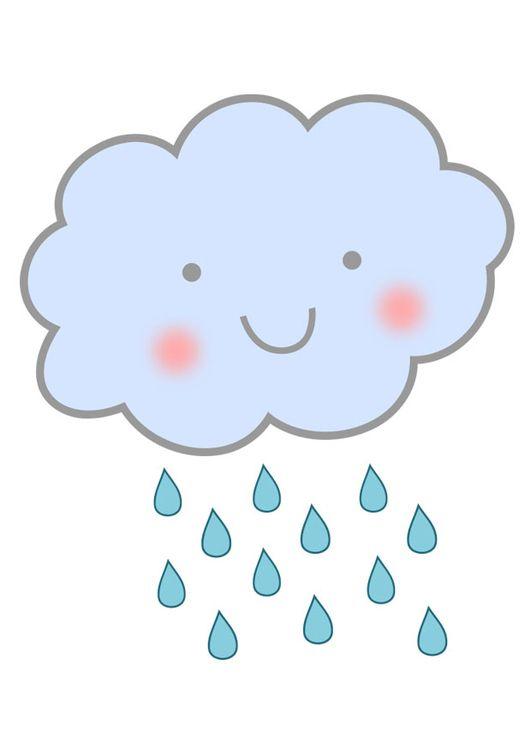 imagem nuvem de chuva