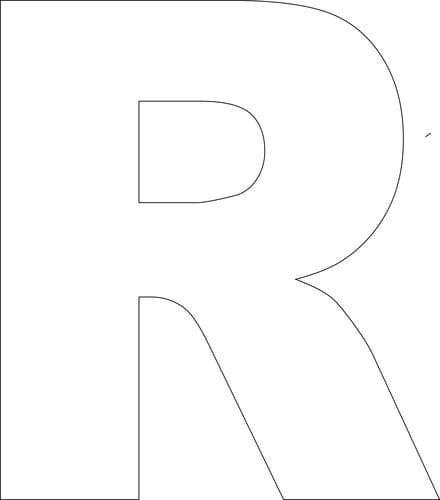 73 best litere pentru decupare images on pinterest letters letter free printable upper case alphabet template spiritdancerdesigns Choice Image