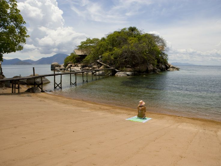 Mumbo Island Camp has a large #beach and amazing views across #Lake #Malawi. #BucketList #Safari #Africa #Holiday #Travel #Ocean #Adventure #Relaxation #Island