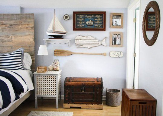 Before After A Rustic Nautical Bedroom Makeover