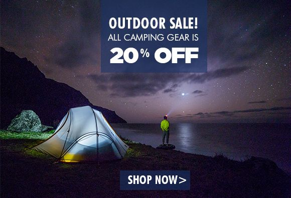 Outdoor Sale!  All camping gear is 20% Off at www.myqueststore.com.