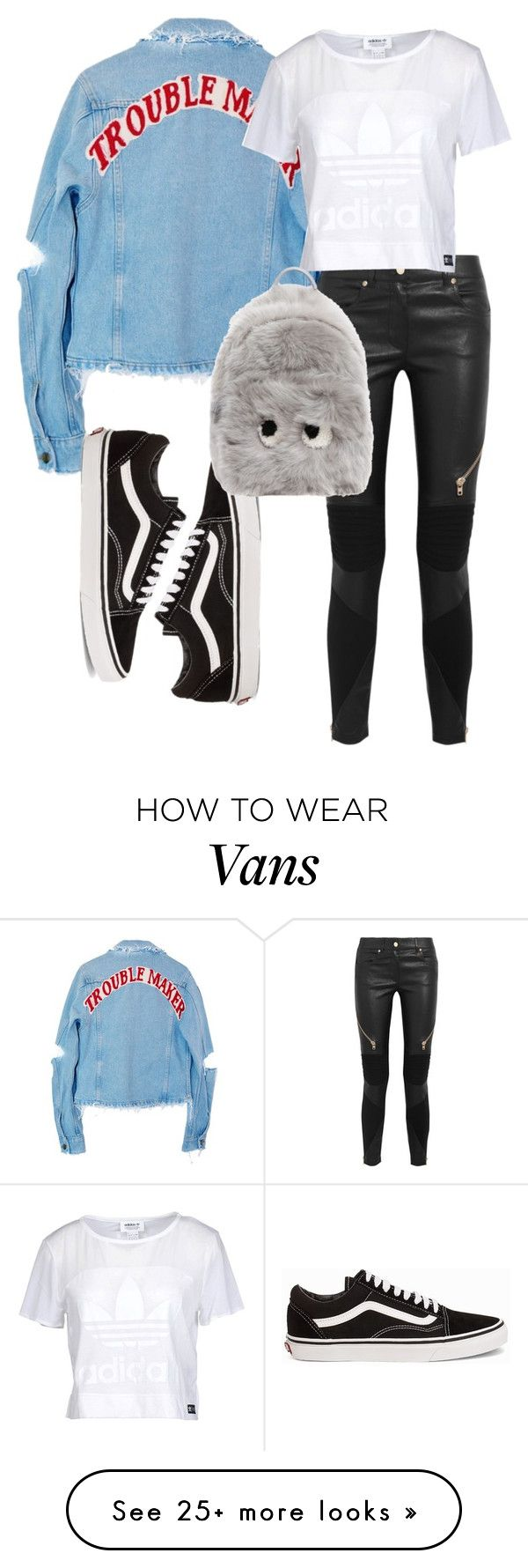 """Untitled #436"" by yourstrulyemz on Polyvore featuring High Heels Suicide, Givenchy, adidas Originals, Vans and Anya Hindmarch"