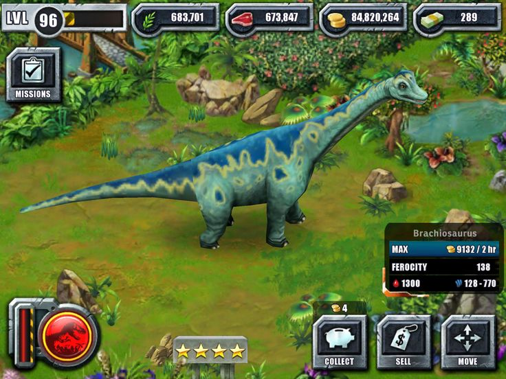 Fully evolved Brachiosaurus from Jurassic Park Builder ...