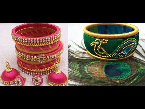 How to make Silk Thread Bangles - Checkered !! - YouTube