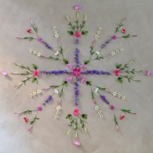 """DISPLAY LOVE // Free People Spring from @Laura Burkhart - """"I wanted to share what has been one of my favorite display elements to work on thus far-floral mandalas."""""""