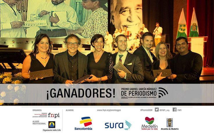 Estos son los trabajos ganadores del #PremioGGM. Una muestra de periodismo calidad, con valores éticos e innovación: http://www.fnpi.org/premioggm/2014/10/estos-son-los-ganadores-del-premio-gabriel-garcia-marquez-de-periodismo/ — con Elizabeth Batiz.