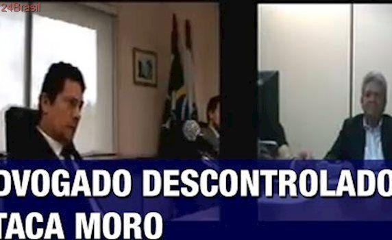 Advogado se descontrola, grita e passa dos limites ao desrespeitar o juiz Moro: 'Você tem que..