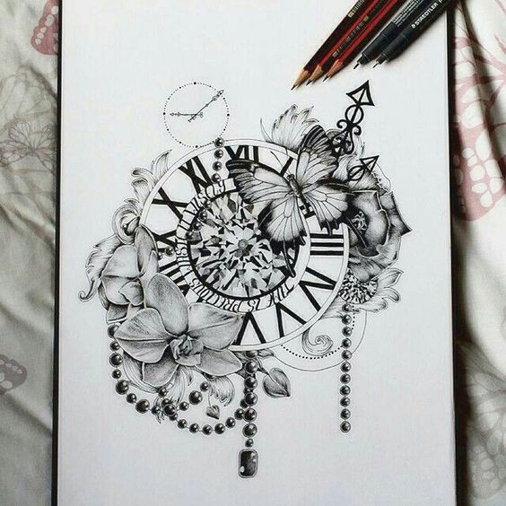 "Thigh tattoo idea ""Time is precious. Use it wisely."""