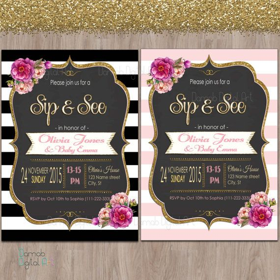 Hey, I found this really awesome Etsy listing at https://www.etsy.com/listing/268360444/sip-and-see-invitation-sip-see