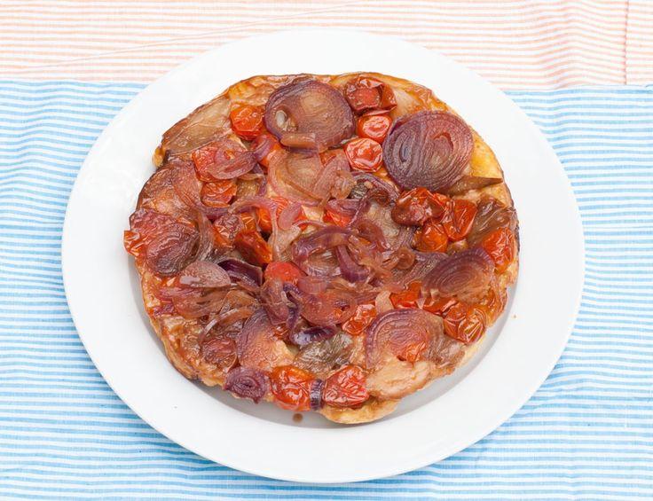 Tatin échalotes tomates oignon rouge balsamique