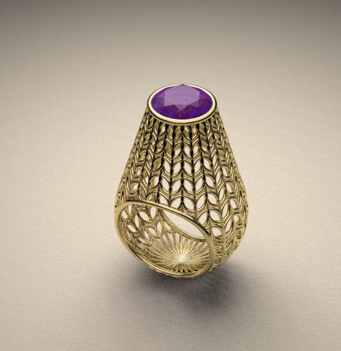 Ring | David Goodwin.  18k gold with gemstone