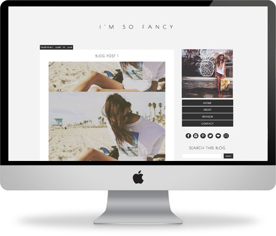 I like this template, I like the colour scheme, layout. I would want my blog name larger and no black box for font to the left/above of the photo. I like how the side bar to the right pops. I'm not sure how I feel about the background, I think I prefer white.