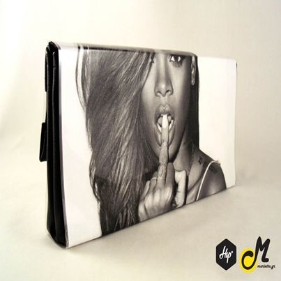 """Handmade Printed Clutch - """"RiRi"""" (Limited Edition)  #Hip #Hipyourteez #Accessories #Mariettas #Ηandmade #Printed #Clutch #Bags #Card_Holders #Limited_Edition #Exclusive #Lana_Del_Rey #James_Dean #Rihanna #RiRi"""