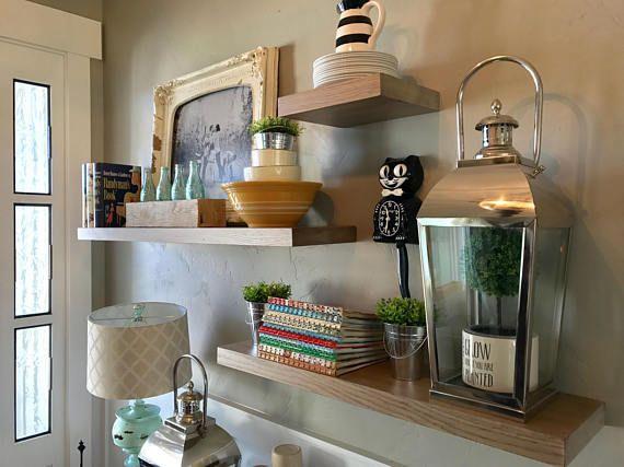 Best 25+ Oak Floating Shelves Ideas On Pinterest