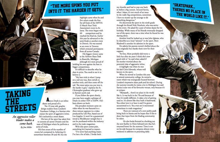 Skate Magazine Layout