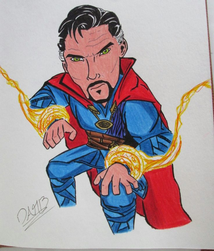 Dibujando a Doctor Strange... Colores, micropuntas y lápiz #draw #drawing #inkdrawing #colors #colorpen #doctorstrange #illustration #benedictcumberbatch