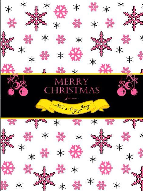 Pink and black snowflakes Chocolate wrapper printables by MillyBoo Designs