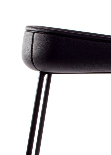 Check this out on leManoosh.com: #Black #Chair #Furniture #Leather #Material Break #Part Line #Stitching #Stool