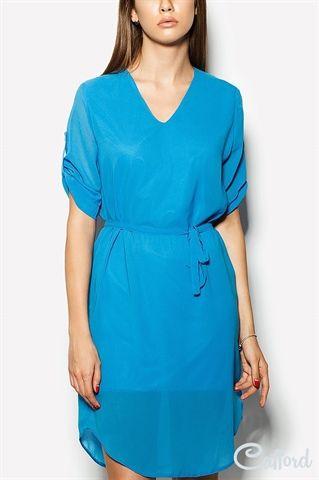 Платье из шифона с подкладкой Altima 1504-3533 Синее