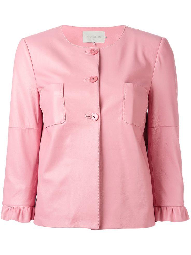 ¡Cómpralo ya!. L'autre Chose - Three-Quarter Sleeve Jacket - Women - Calf Leather/Nylon - 40. Pink calf leather three-quarter sleeve jacket from L'Autre Chose. Size: 40. Color: Pink/purple. Gender: Female. Material: Calf Leather/Nylon. , chaquetadecuero, polipiel, biker, ante, antelina, chupa, decuero, leather, suede, suedette, fauxleather, chaquetadecuero, lederjacke, chaquetadecuero, vesteencuir, giaccaincuio, piel. Chaqueta de cuero  de mujer color rosa de L'AUTRE CHOSE.