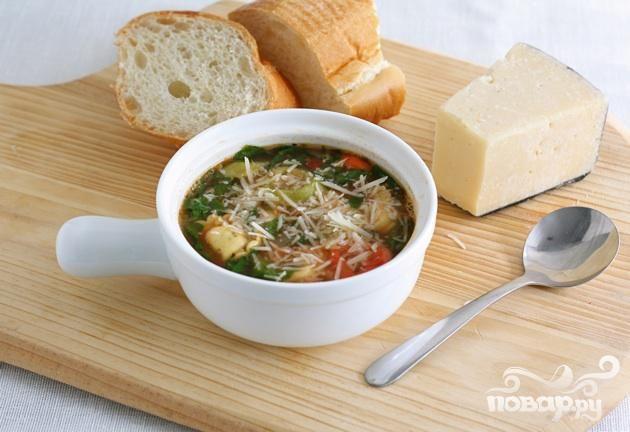 Суп с тортеллини - фото шаг 6