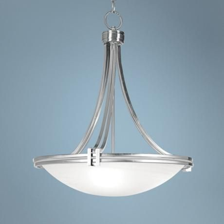 Possini euro design deco nickel 21 1 2 wide pendant light for Possini lighting website
