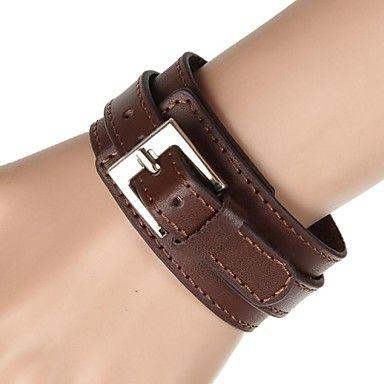 Feest/Dagelijks/Causaal/Sport - Wrap Bracelets/Vintage Armbanden/Lederen armbanden ( Legering/Leder , Zwart/Wit/Rood/Bruin ) – EUR € 6.99