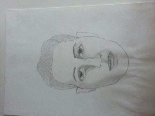 Schets, voorbeeld gezicht