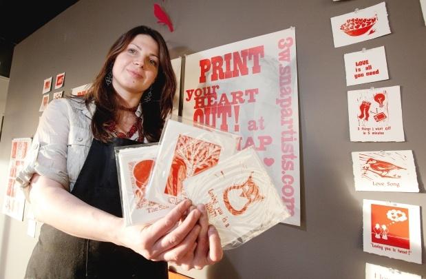 Edmonton gallery offers a Valentine's card workshop