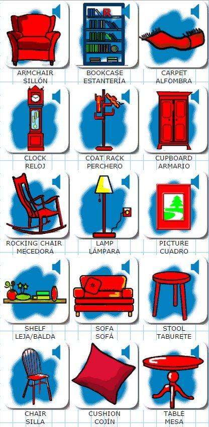 Los muebles en inglés