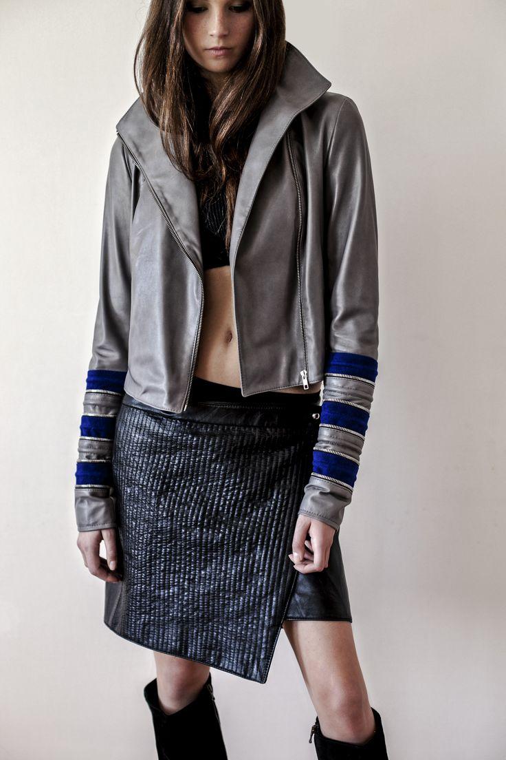 Dove-leather #zayderka jacket straight #zayder