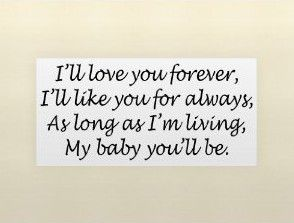 P032 ik hou van je voor altijd, als ik je voor altijd, zo lang als ik woon. Vinyl muur citeert liefde
