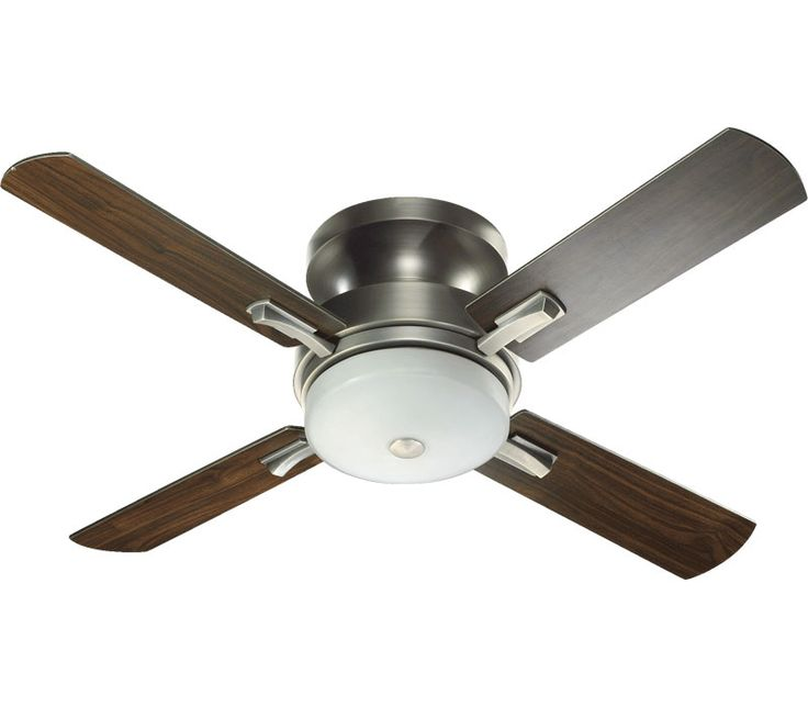 silver and black ceiling fan | Quorum 65524-92 Davenport 52 Inch Antique Silver Ceiling Fan