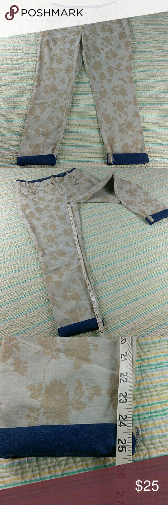 Anthropologie Cartonnier Charlie Trouser Sz 4 Pant Anthropologie Cartonnier Charlie Trouser Sz 4 Linen Natural Jacquard Ankle Pants Anthropologie Pants Ankle & Cropped