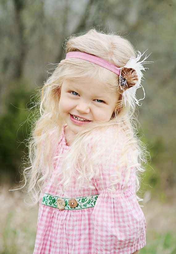 Adorable headband (and child)!: Angel, Flappers Headbands, Hair Pretty, Dolls, Future Daughters, Adorable Headbands, Flapper Headband, Dusty Rose