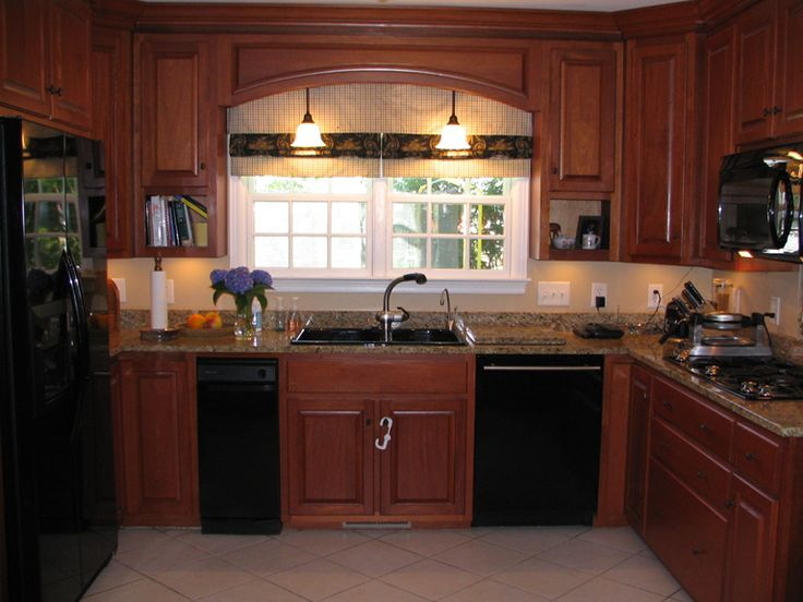 Pictures of google and cabinets on pinterest Kitchen design mahogany cabinets