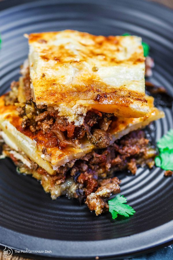 34 best moussaka images on pinterest greek recipes greek food moussaka recipe the mediterranean dish a layered eggplant casserole with potatoes and a hearty forumfinder Image collections