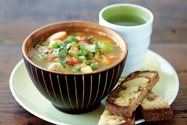 Butter bean soup with cheese toast is easy, vegetarian and kid friendly. Perfect!