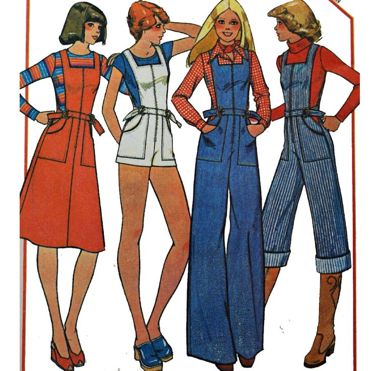 Vintage 70s Womens JUMPSUIT Jumper & Romper Pattern/ Overall Romper w/ Bell Legs / Jumper Dress Pattern / McCalls 5125 Bust 34. $22.00, via Etsy.