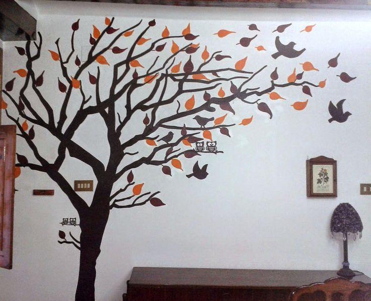 M s de 25 ideas incre bles sobre plantillas de pared rbol for Como pegar papel mural