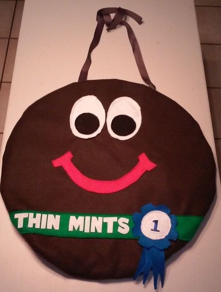 girl scout cookie costume   thin mints amp peanut butter