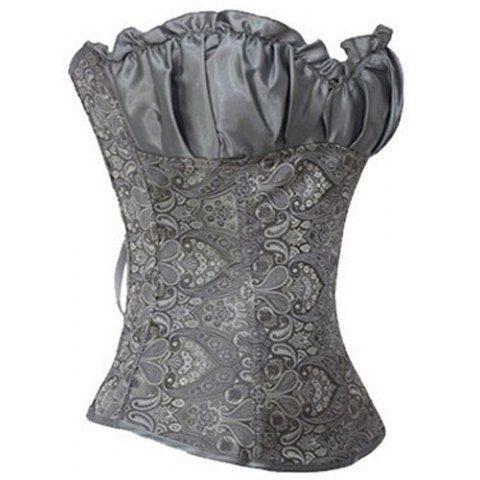 Slimming Ruffled V-Neck Backless Strapless Women's CorsetCorset & Bustiers | RoseGal.com