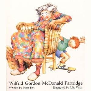 Wilfred Gordon McDonald Partridge by Mem Fox is about a Wilfred, a boy, that bonds with his his neighbor, Mrs. Nancy, by visiting her. Throughout the book Wilfred Mrs. Nancy reminds of some wonderful memories that are in her past. This a great story!