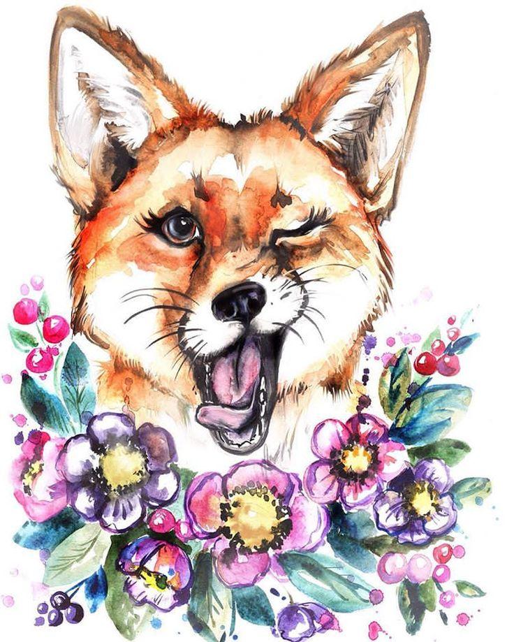 Я решила, что мне недостаточно фото телефона, т.к. Не передаёт цвет поэтому проэксперимкнтировала и отсканировала. Так уже ближе к оригиналу :) #лиса #лис #лисы #акварель #весна #супернастроение #арт #fox #lovefox #watercolor #spring