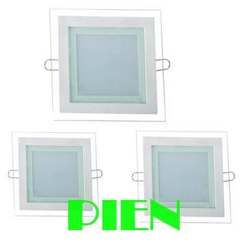 Glass led panel light Square 18W 12W 6W downlights luces for home Kitchen smd5730 6000K 4000K 110V-240V  CE&ROHS by DHL 30pcs #Affiliate
