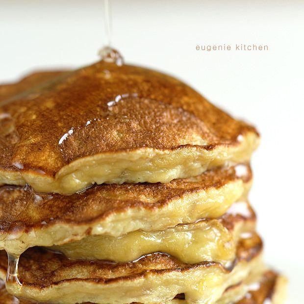 3-Ingredient Banana Pancakes: banane/oeuf/bicarbonate