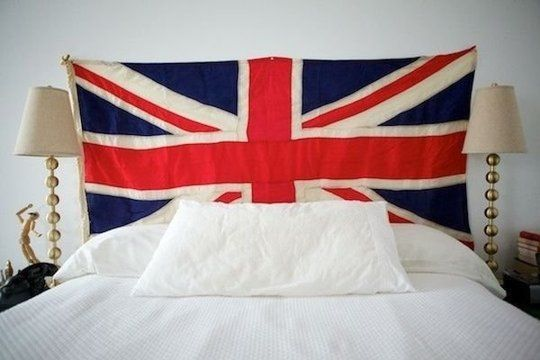 Show style spirit with an oversized flag american for American flag bedroom ideas